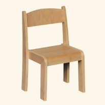 4 Pack  Stackable Classroom Chairs Beech H350mm